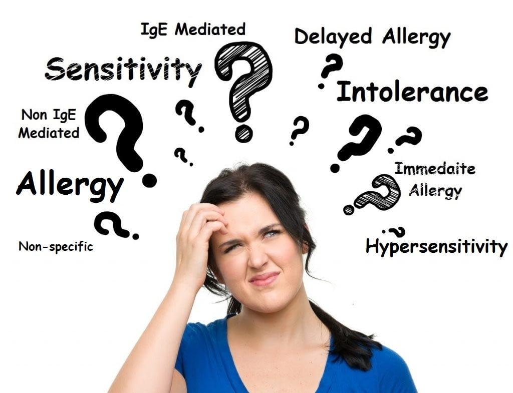 Allergy , intolerance, sensitivity confusion